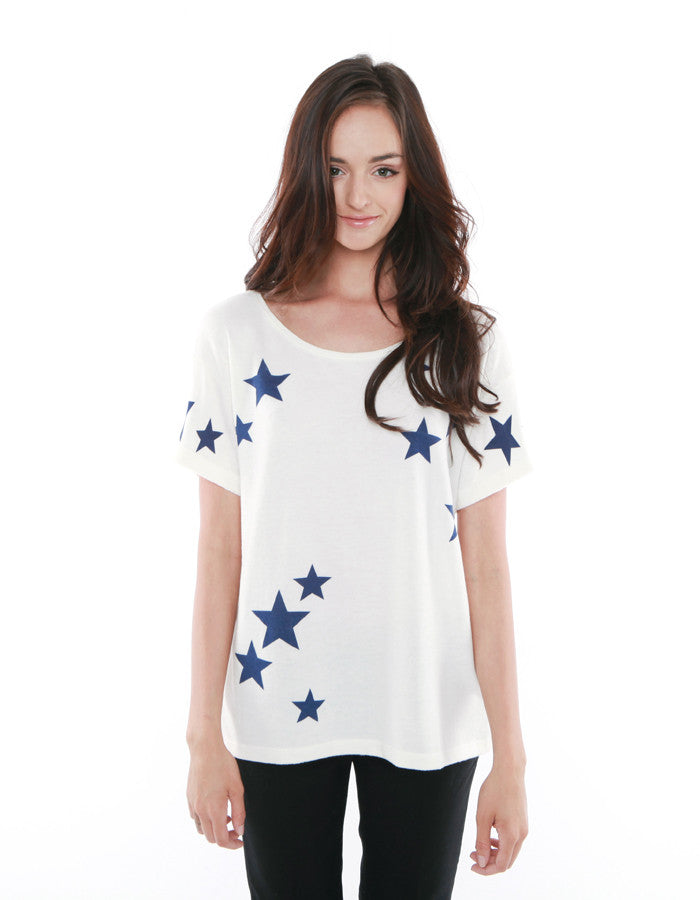 Stella Short Sleeve White/Navy