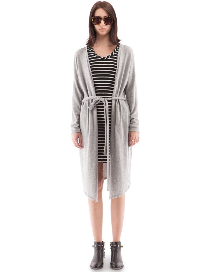 Taylor Long Cardigan Heather Grey