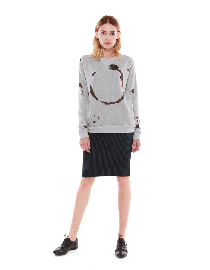 Trace Sweatshirts Heather Grey<br><font color=red><STRIKE>USD $158.00</strike></font>
