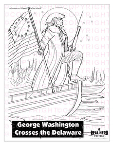 """Color Your Hero!"" George Washington Crosses the Delaware"