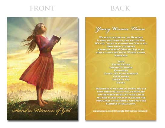 Young Women Values Card Set