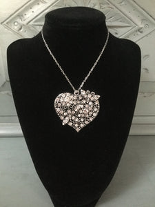 Diamanté Heart with Butterflies