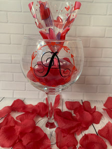 Personalised Valentine Gin Glass