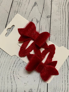 Festive Red Hair Clip