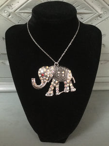 Diamanté Elephant Necklace
