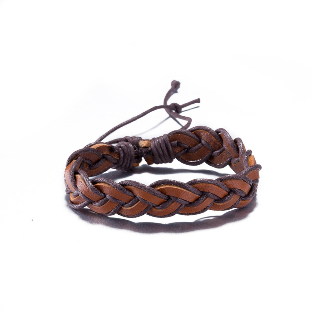 Adjustable Leather Wristband