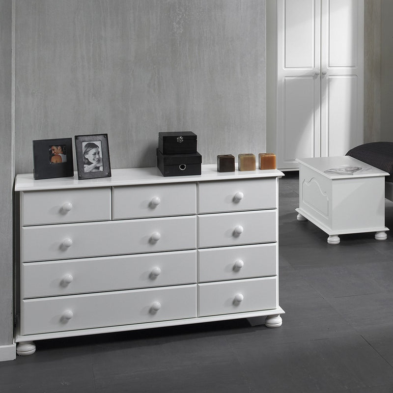 Copenhagen 2 + 3 + 4 Drawer Extra wide chest in White