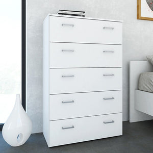 Space Chest of 5 Drawers in White