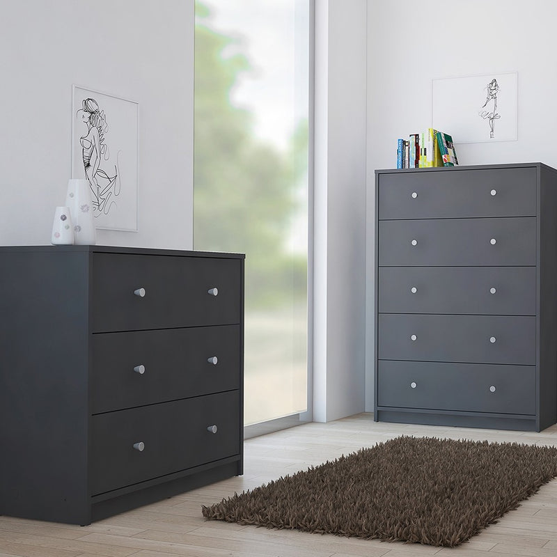 May Chest of 3 Drawers in Grey