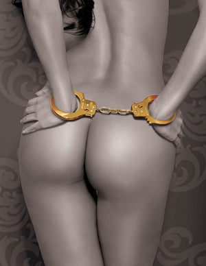 FETISH FANTASY GOLD METAL CUFFS