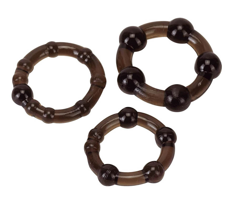 PRO RINGS 3ER SET FROSTED BLACK