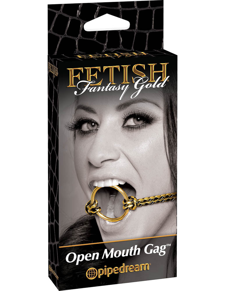 FETISH FANTASY GOLD OPEN MOUTH GAG