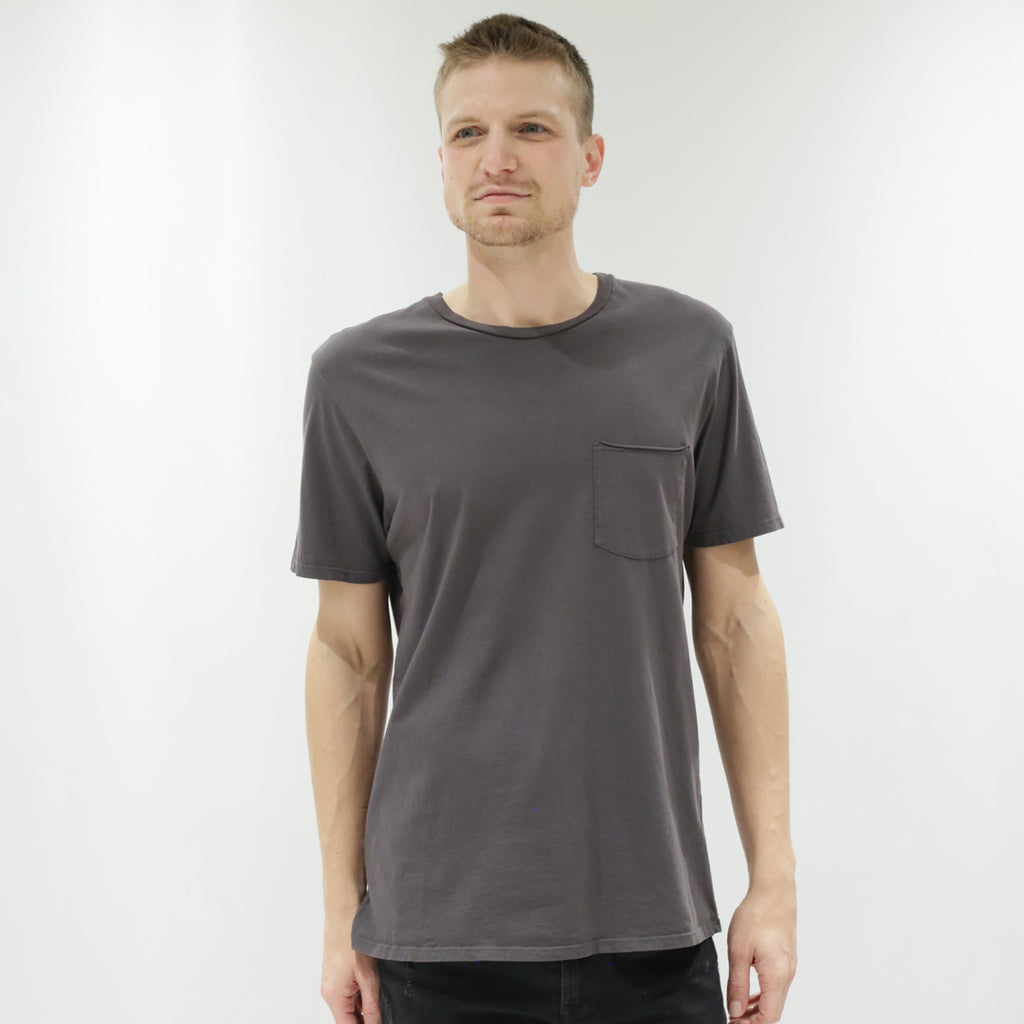 Unisex Raw Pocket Crew