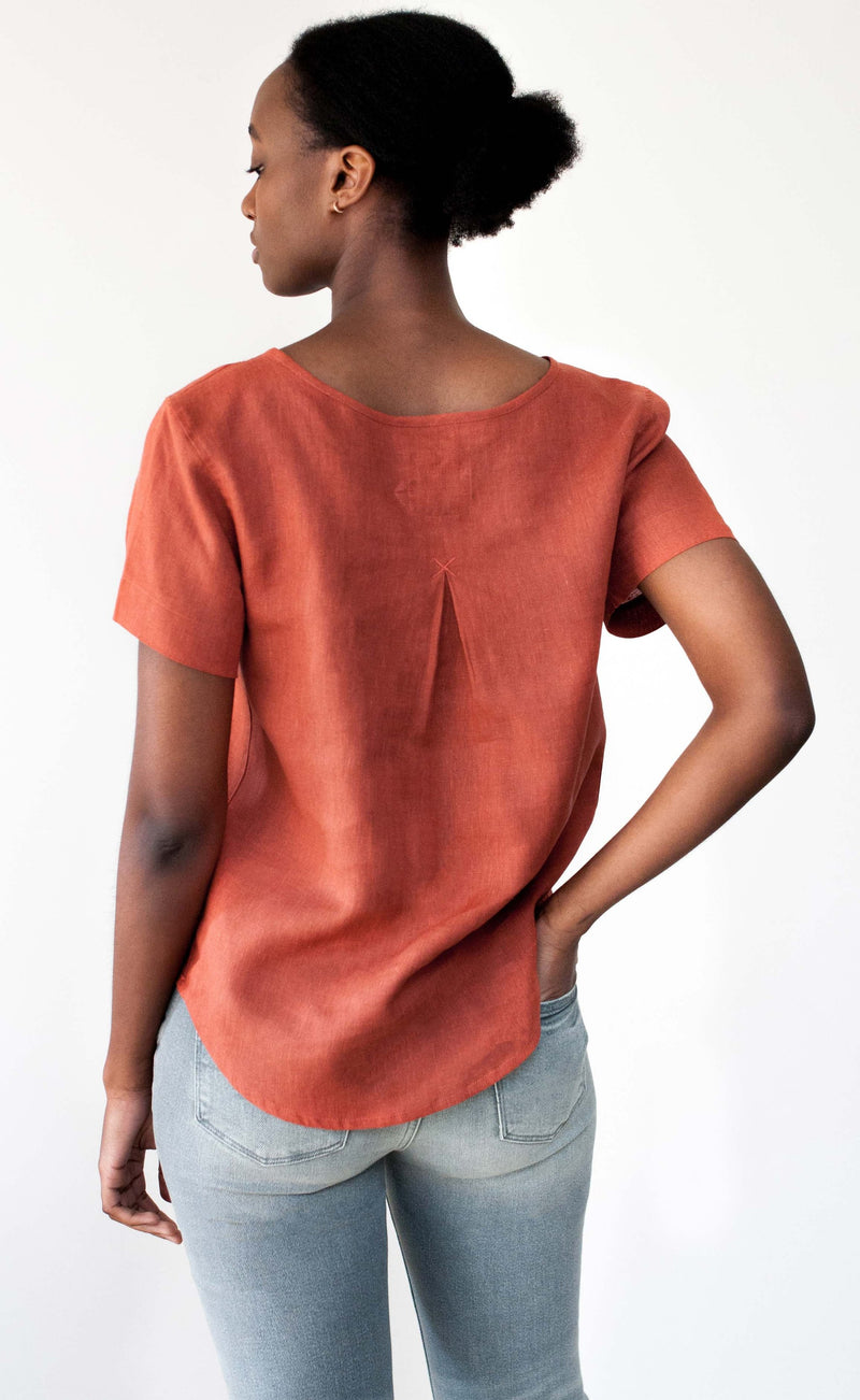 The Femme- Woven Tee