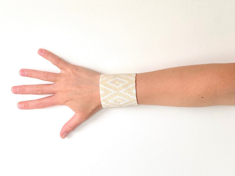 The Diamante Cuff in Creme