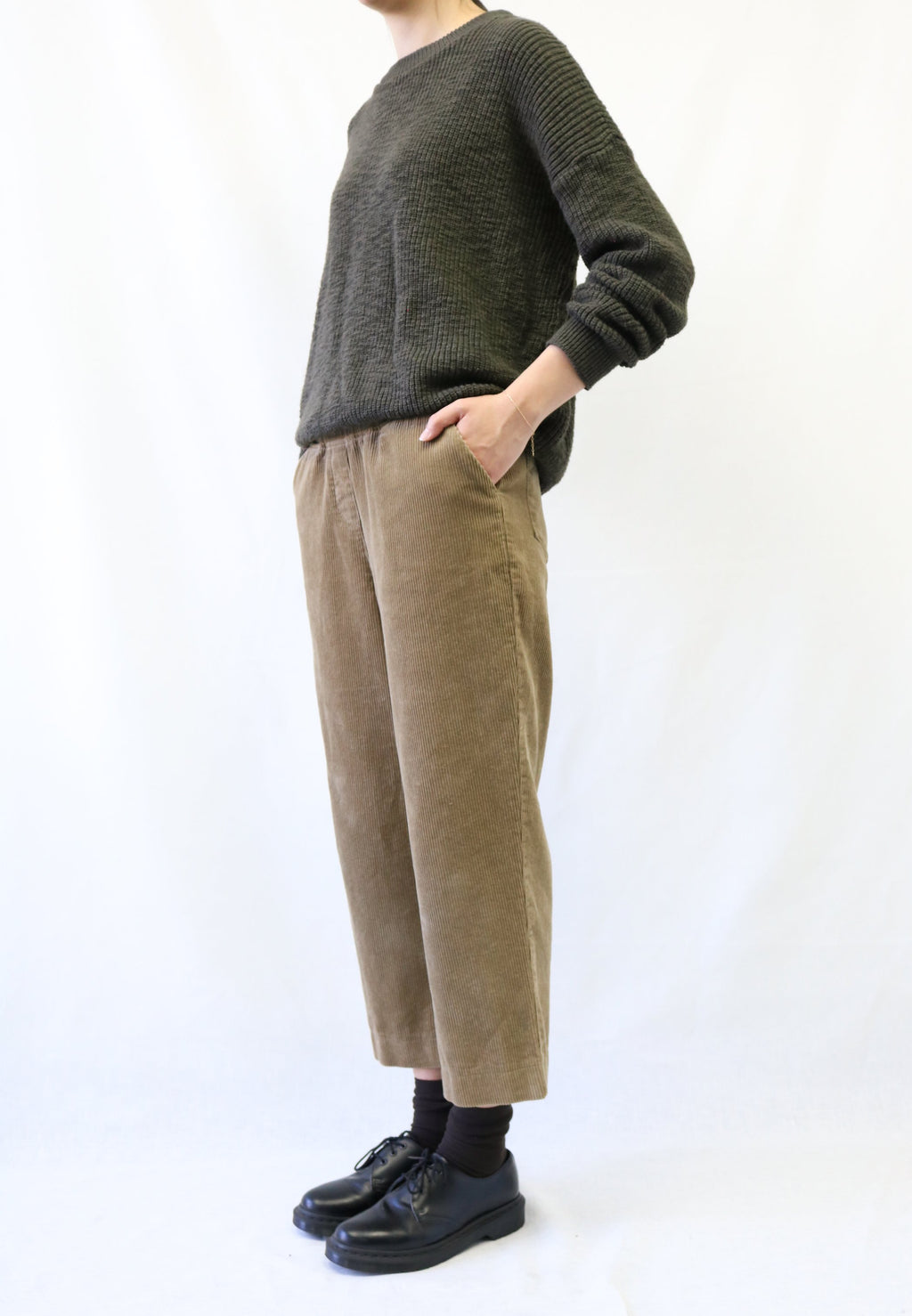 Corduroy Wide Pull-On Pant