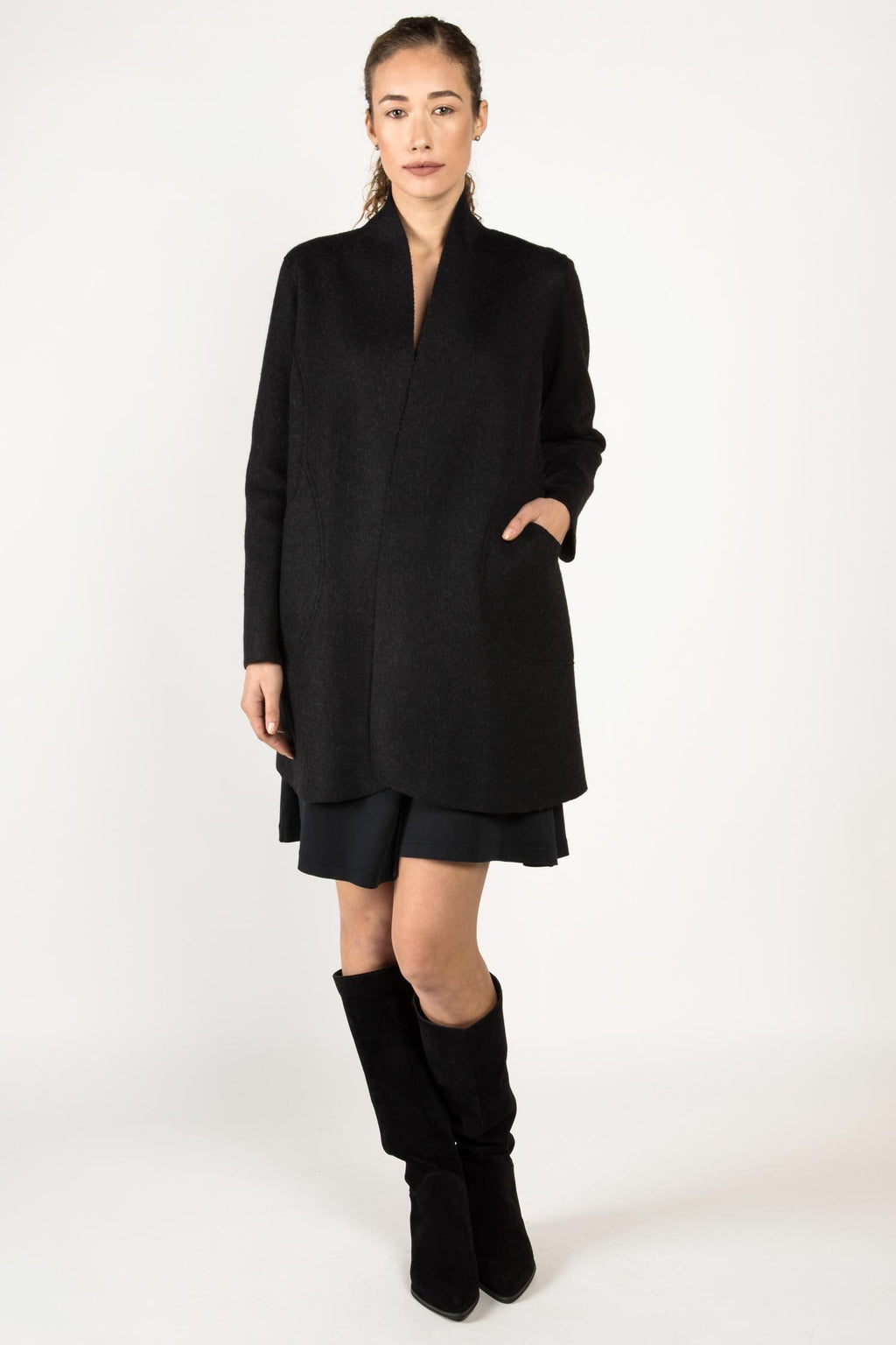 Alpaca Wool Reversible Coat