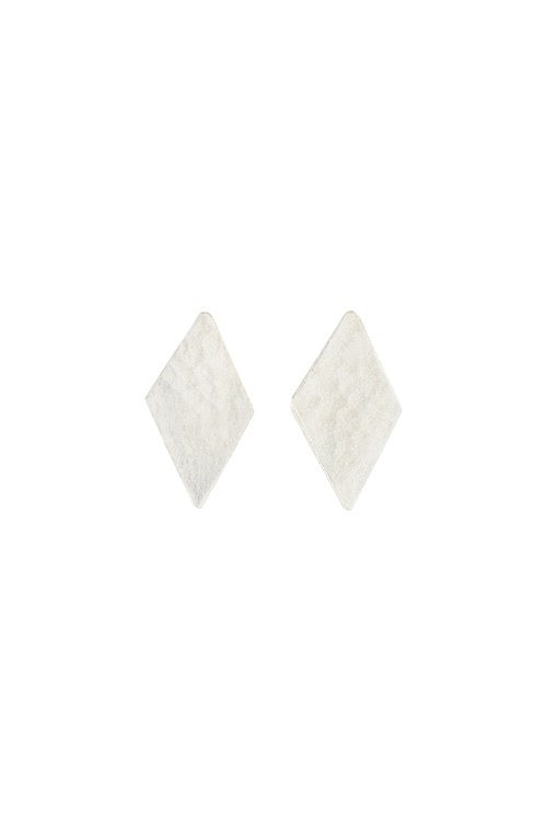 Diamond Stud Earrings in Silver