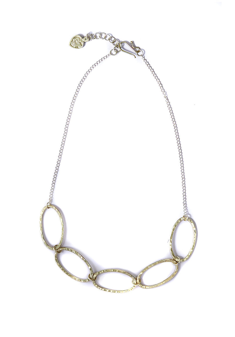 Linked Ovals Necklace