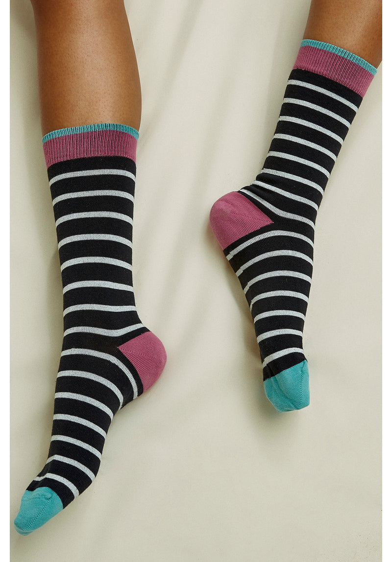 Mulberry Striped Socks