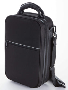 Serio Single Bb Case All Black-front image with zipper pocket