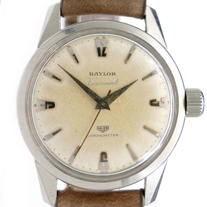 Heuer Vkscount Baylor Chronometer Automatic Vintage Watch