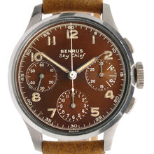Load image into Gallery viewer, Benrus Sky Chief Brown Dial Vintage Chronograph Watch
