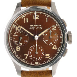 Benrus Sky Chief Brown Dial Vintage Chronograph Watch