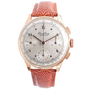 1946 Breitling Premier Reference 787 18K Rose Gold Vintage Chronograph Watch