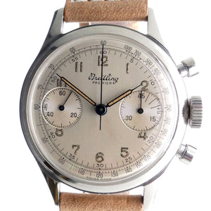 Breitling Premier 790 Stainless Steel Vintage Chronograph Watch