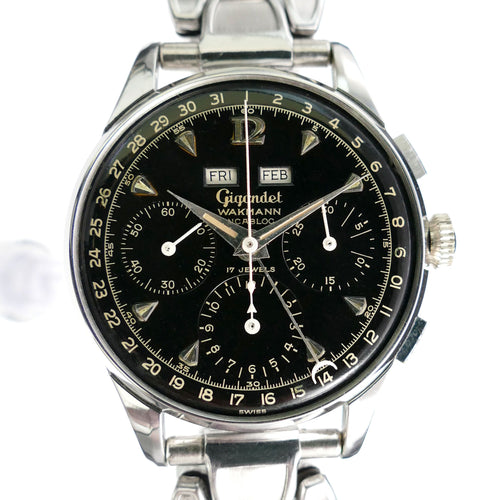 Gigandet Wakmann 2995 2002 Datic Valjoux 72c Triple Date Chronograph Watch