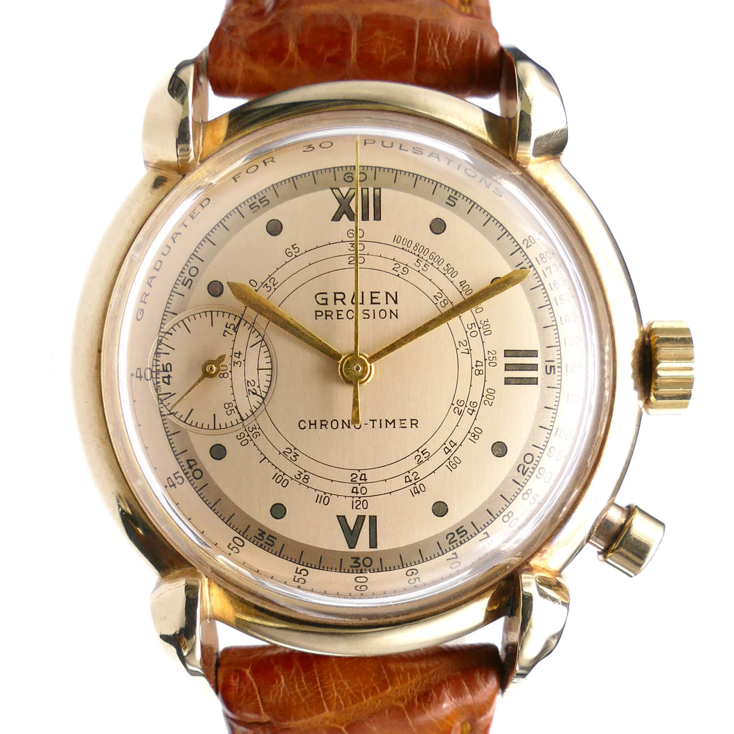 Gruen Chrono-Timer 14K Doctor's Watch - Pulsations