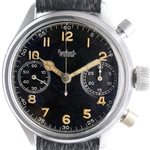 Hanhart Flieger German Military Luftwaffe Pilots 41 Flyback Chronograph