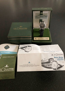 LNIB Vintage Chronograph Watch Jaeger-LeCoultre E335 Master Mariner with Valjoux 72 Movement
