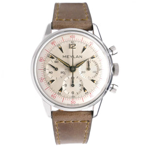 Meylan 805-61 Red Decimal Chronograph