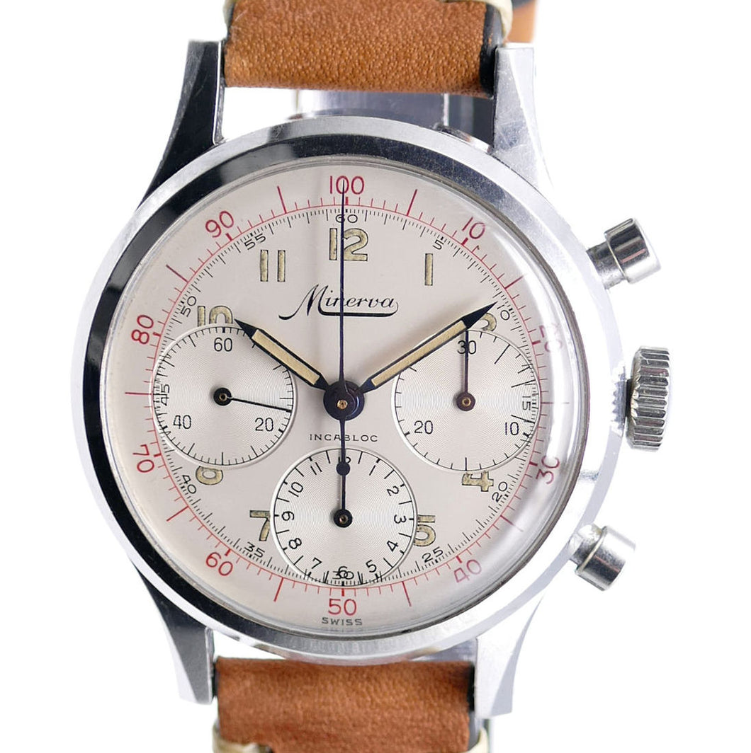Minerva VD-712 Decimal Chronograph - Front View