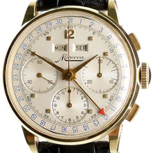 Load image into Gallery viewer, Minerva VF018 Solid Gold Triple Date Chronograph Watch