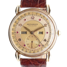Load image into Gallery viewer, Movado Calendograph Solid Gold Triple Date Watch