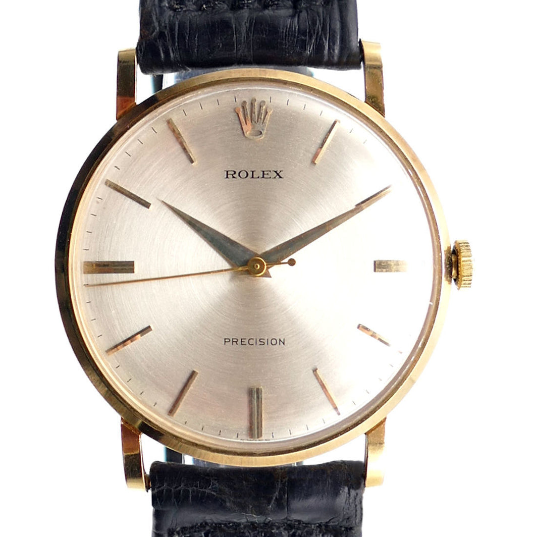 Rolex Reference 9659 Solid 18K Gold Men's Dress Watch