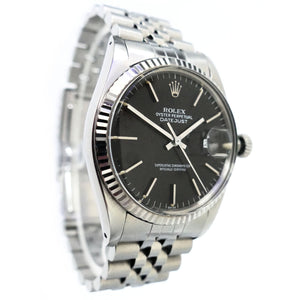 Rolex Datejust 16014 Fluted Bezel Mens Vintage Watch