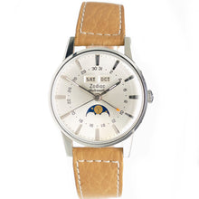 Load image into Gallery viewer, NOS Zodiac Vintage Moonphase Watch in Steel