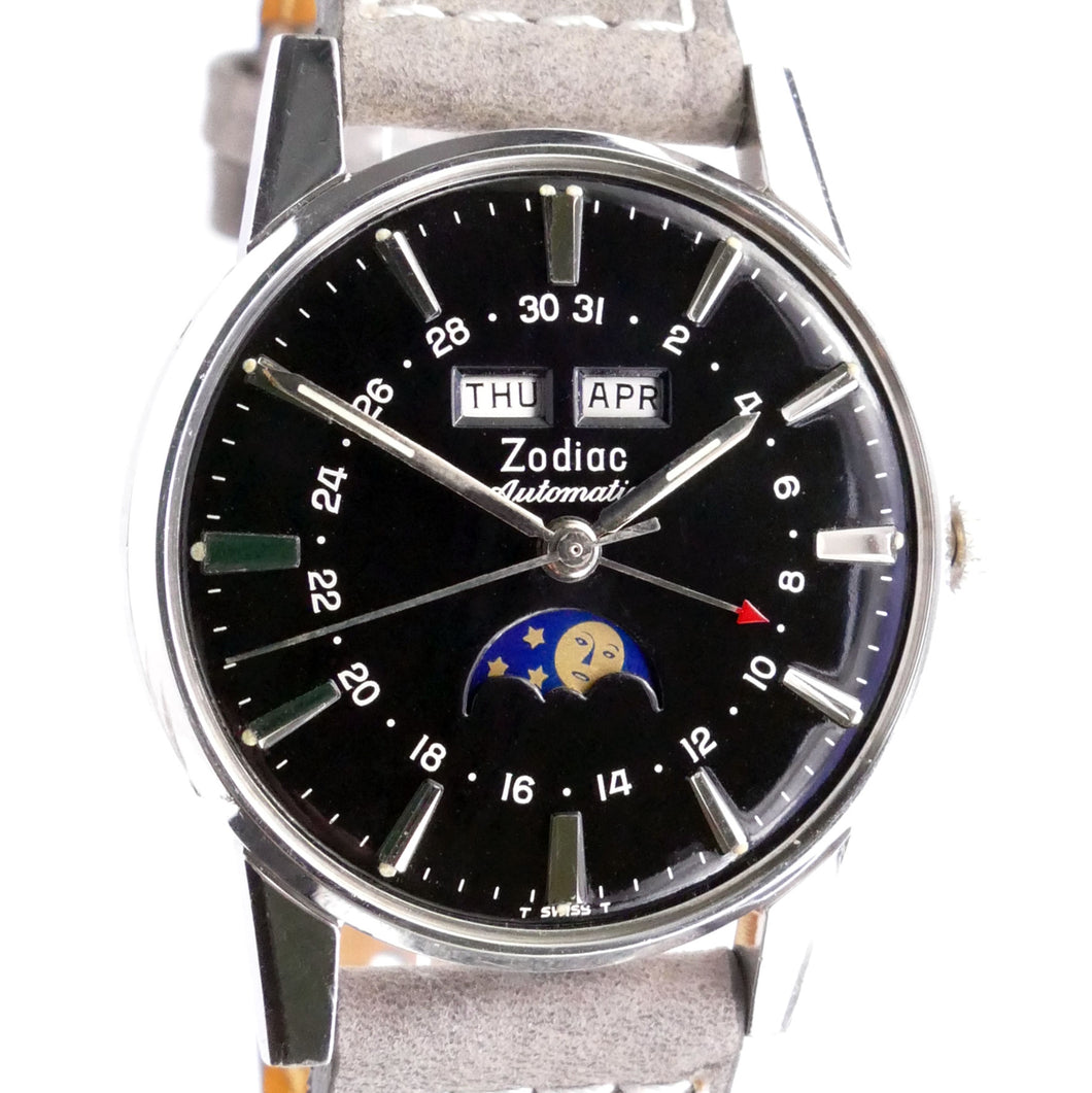 Zodiac Automatic Moonphase Watch - Triple Date Steel