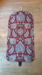 Red Medallion Hanging Garment Bag