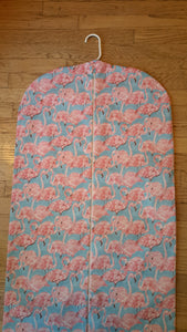 Blue Flamingo Hanging Garment Bag