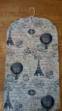 Load image into Gallery viewer, Paris & Hot Air Balloon Hanging Garment Bag
