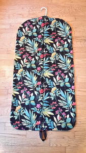 Black and Turquoise Floral Garment Bag for Ladies