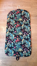 Load image into Gallery viewer, Black and Turquoise Floral Garment Bag for Ladies