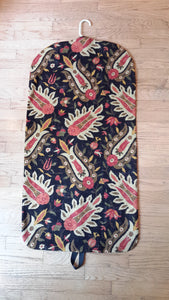 Black and Gold Floral Garment Bag for Ladies
