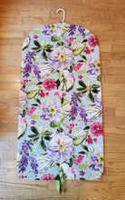 Load image into Gallery viewer, Wisteria Floral Hanging Garment Bag