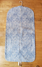Load image into Gallery viewer, Blue Paisley Hanging Garment Bag